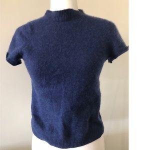 L.L Bean mock neck short sleeve sweater